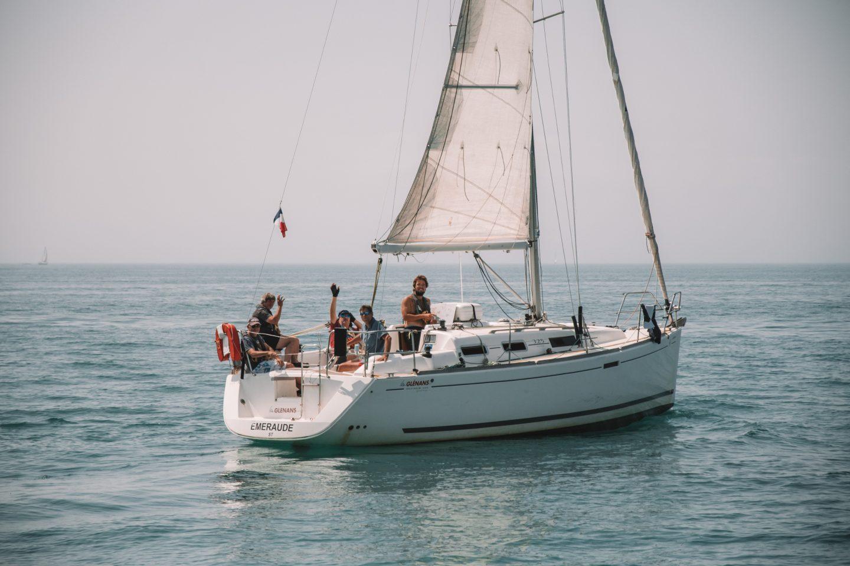 coucou depuis le bateau des Glénans