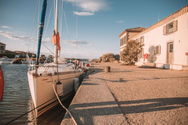 notre bateau à la base des Glénans de Marseillan