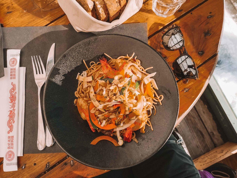 plat restaurant, courchevel