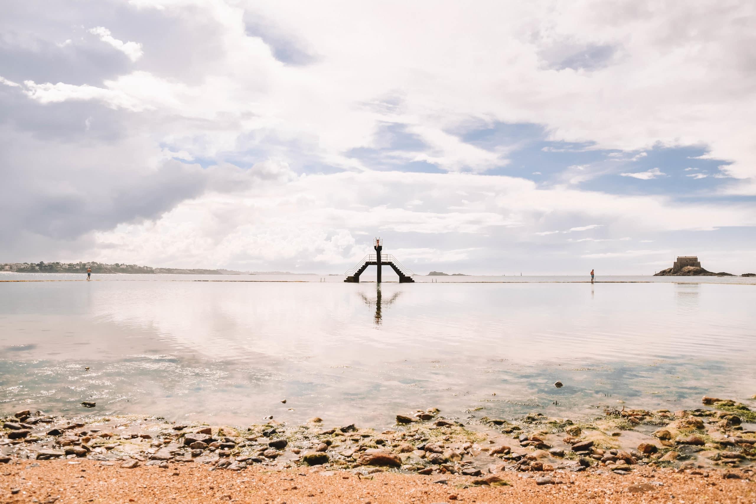 Le fameux plongeoir de Saint Malo