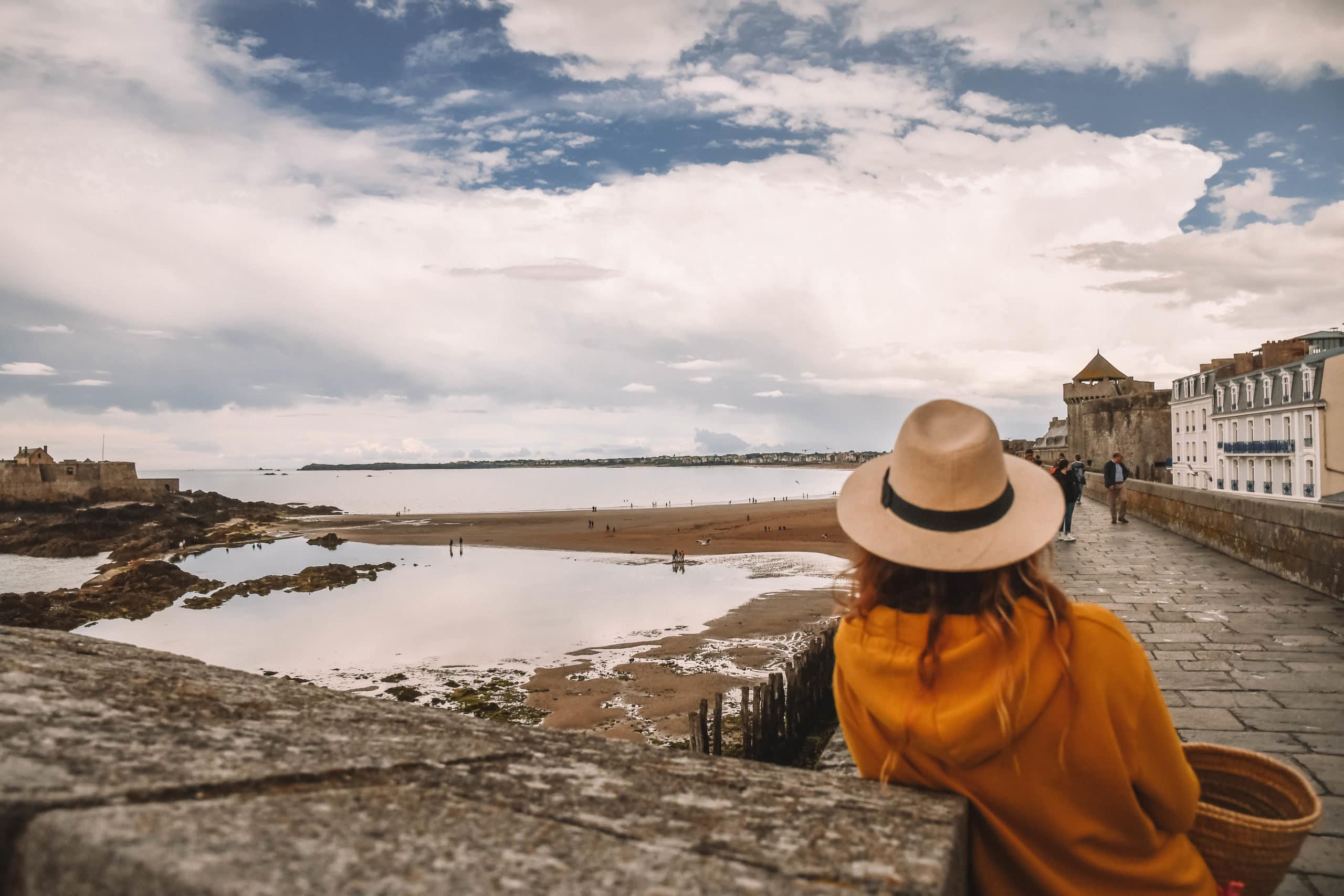 Perrine depuis les remparts de Saint Malo