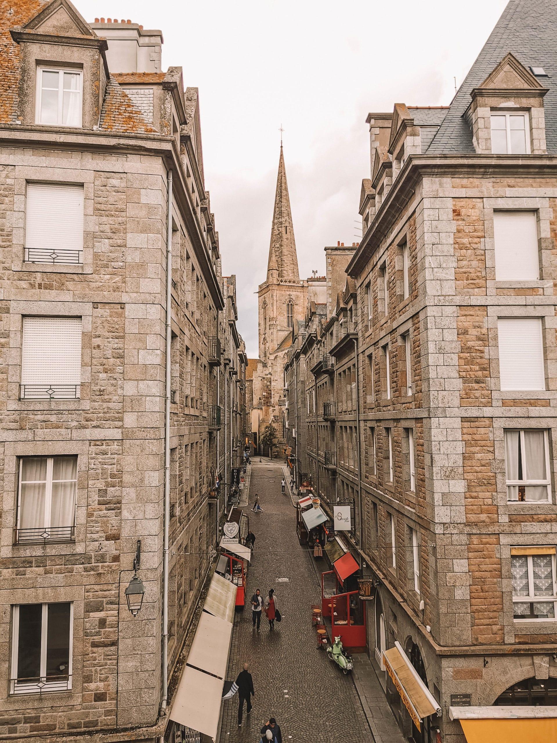 Vue depuis les remparts de Saint Malo