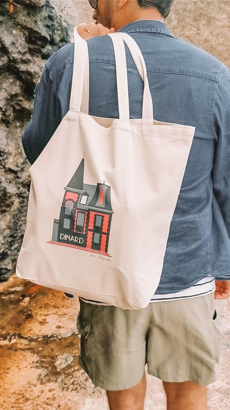 Pedro porte mon sac cabas Far Bay